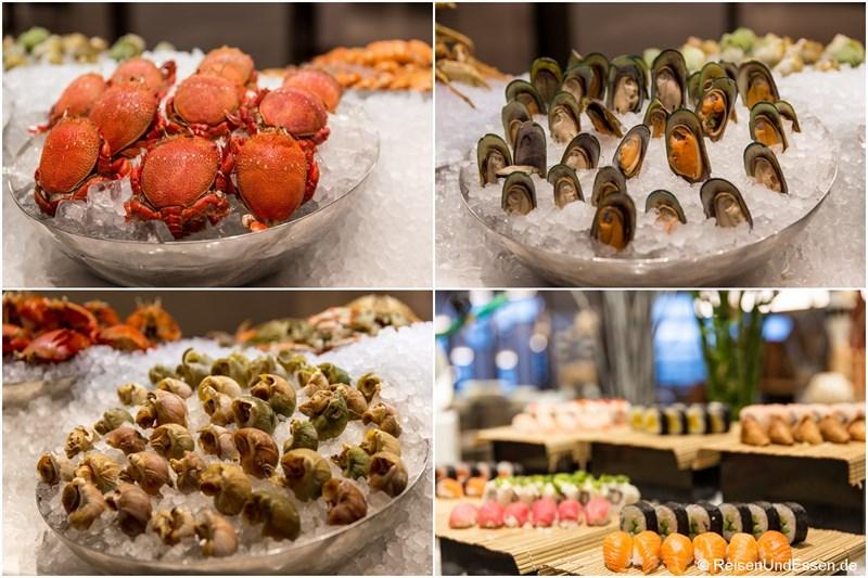 Meeresfrüchte im Restaurant Elements