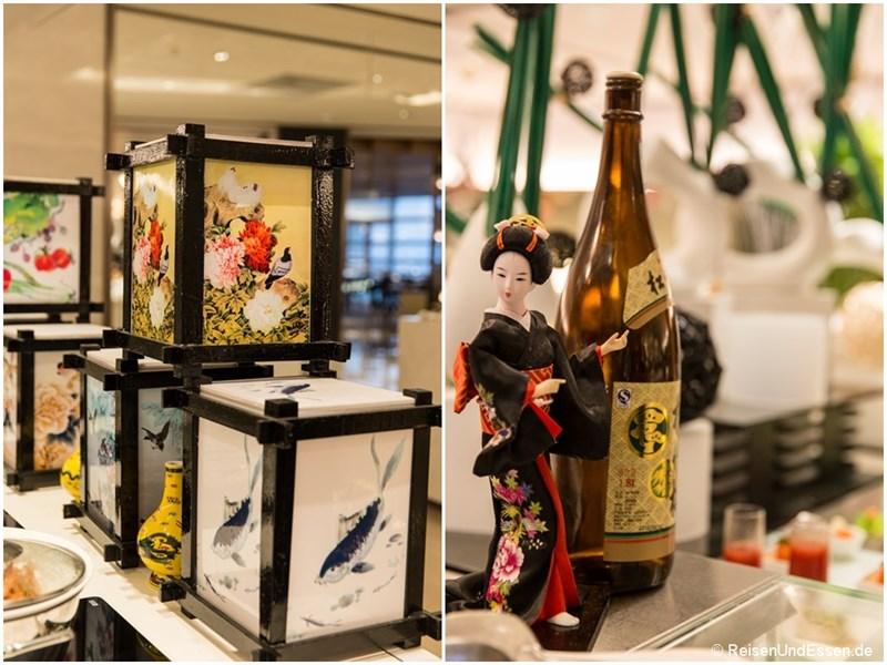 Japanische Dekoration im Restaurant Elements