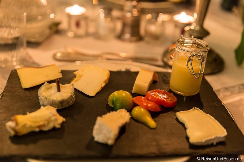 Käse der Region zum Diner