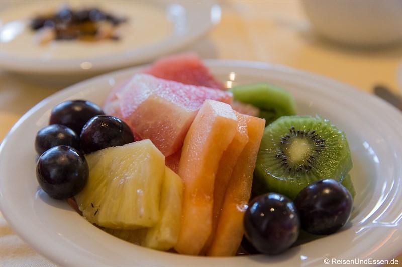 Frisches Obst beim Frühstück