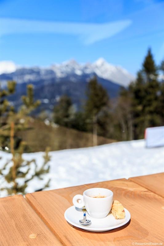 Espresso in der Skibar