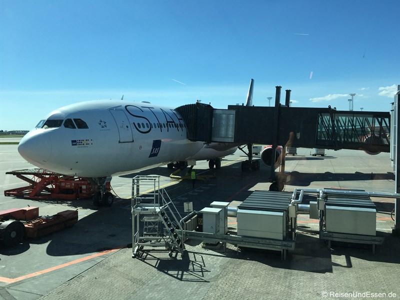 Airbus für Flug SK983 von Kopenhagen nach Tokio