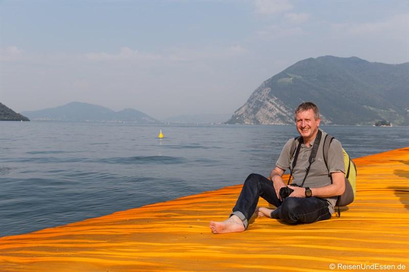 Begeisterung auf den Floating Piers