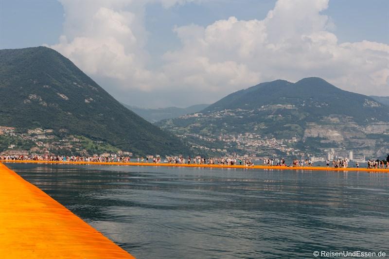 Schwimmende Stege zur Isola di San Paolo