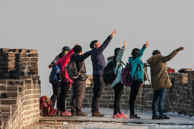 Chinesen beim Fotoshooting