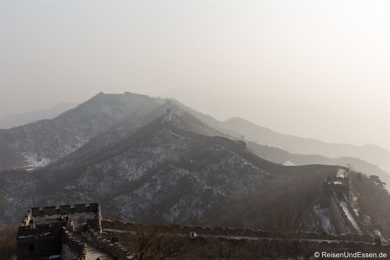Verlauf der chinesischen Mauer in Mutianyu