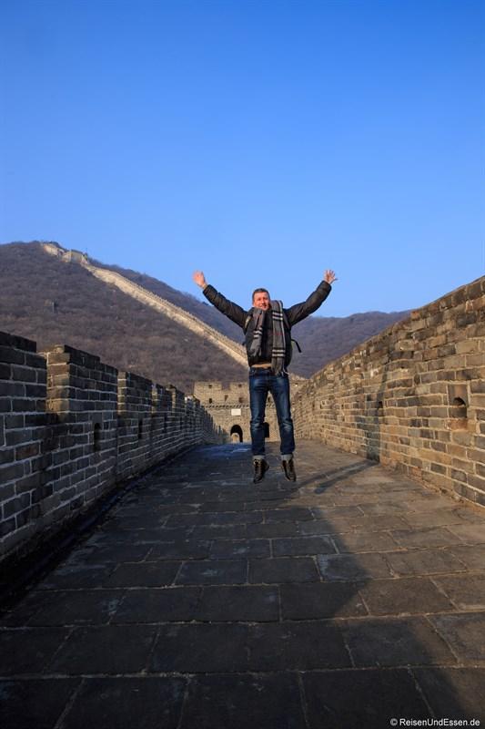 Freundsprung auf der Chinesischen Mauer