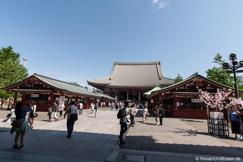 Blick Richtung Senso-ji Tempel