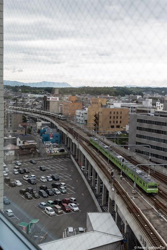 Blick auf die Züge