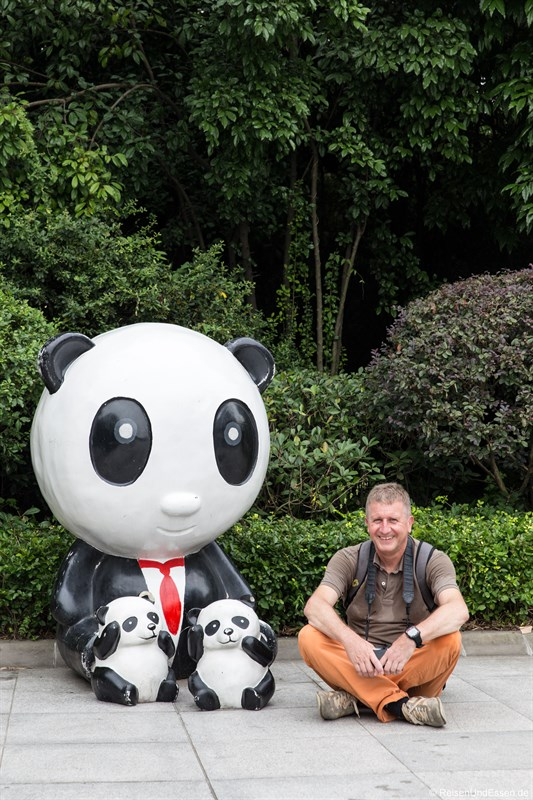 Unterwegs bei den Panda in Chengdu