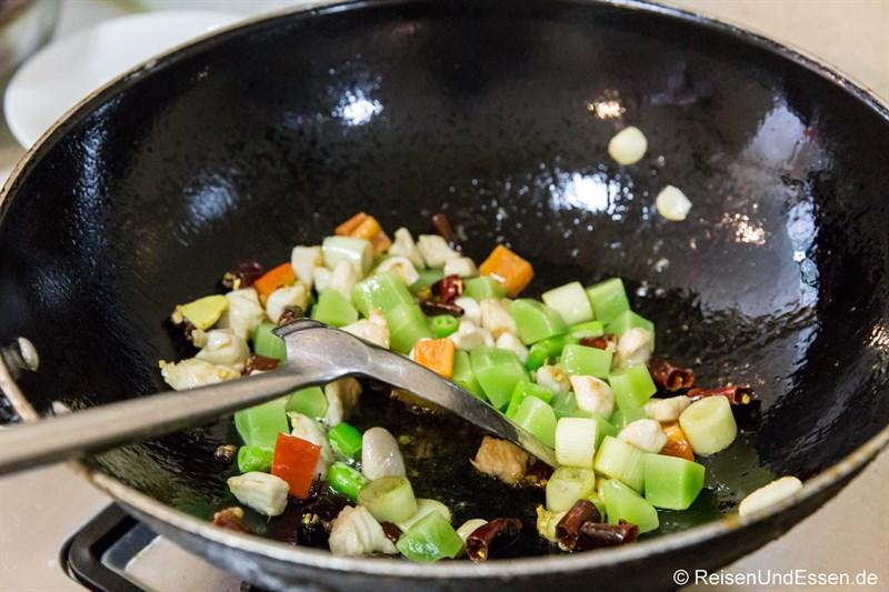 Kochkurs mit typischen Sichuan Gerichten in Chengdu