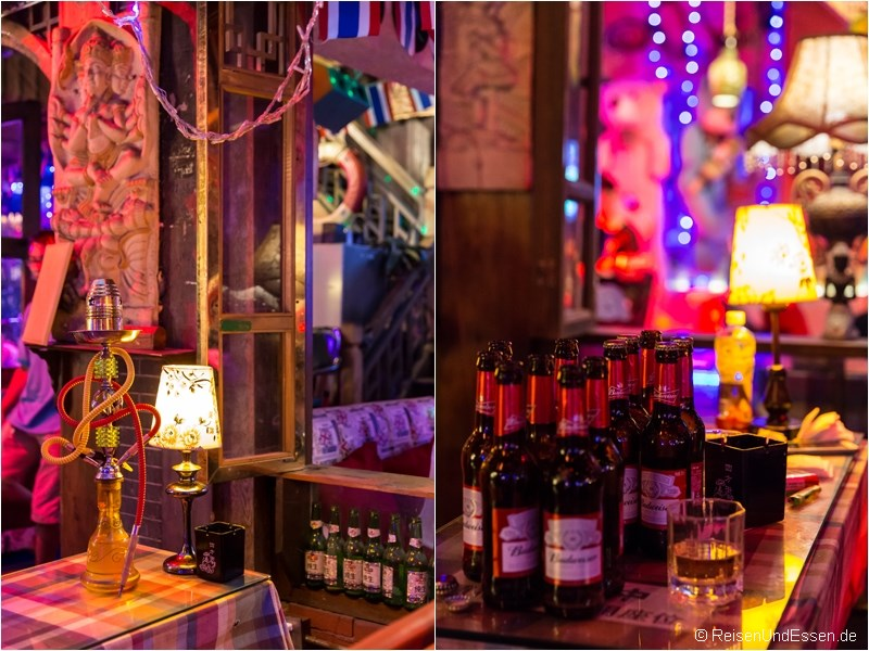 Bar mit Sisha und Bier in der Jinli Strasse