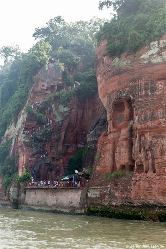 Treppen beim Großen Buddha von Leshan