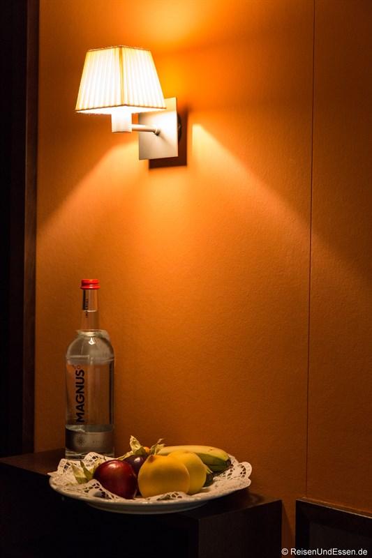 Obst und Wasser im Steigenberger Hotel Treudelberg Hamburg