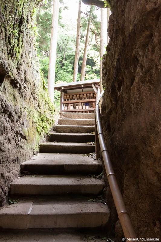 Aufgang in der Tempelanlage
