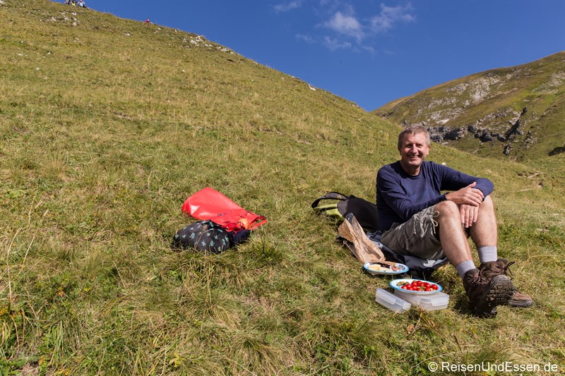 Picknick bei Sonne am Schrecksee