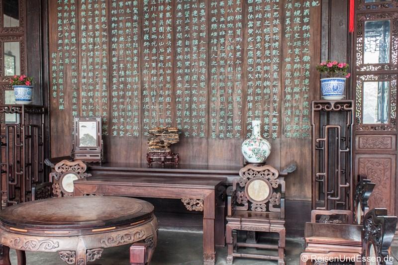 Chinesische Möbel in einem traditionellen Haus