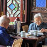Teehaus im Lion Grove Garden in Suzhou