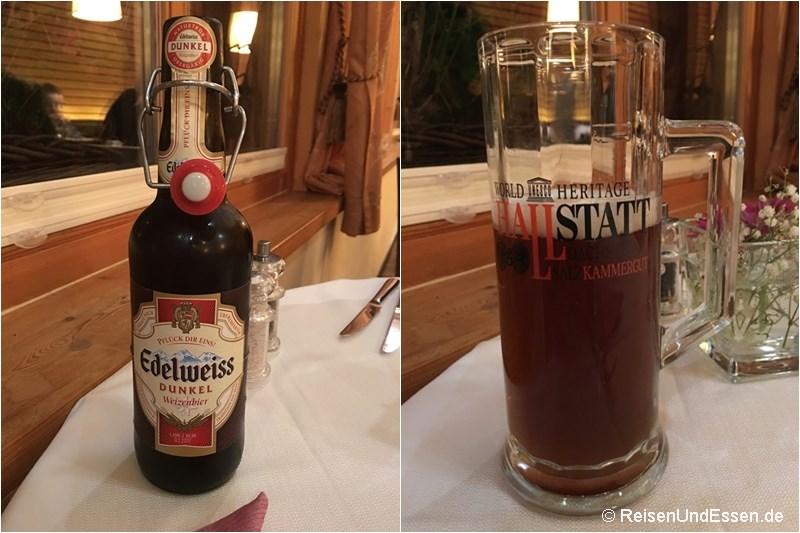 Dunkles Weizenbier Edelweiss im Restaurant Im Kainz