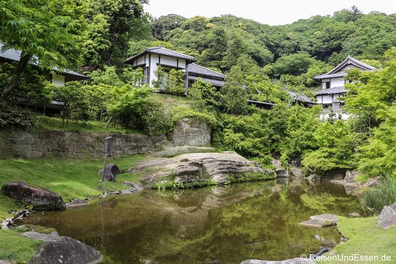 Japanischer Garten in der Tempelanlage Engaku-ji