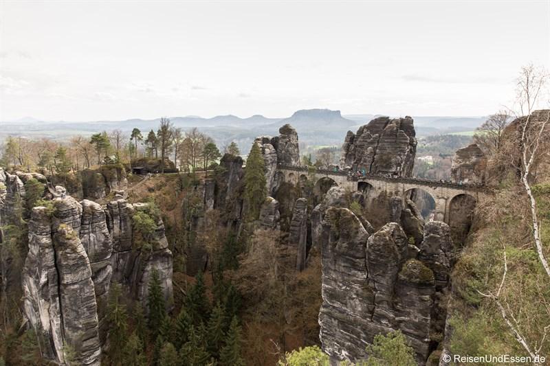Elbstandsteingebirge in der sächsischen Schweiz