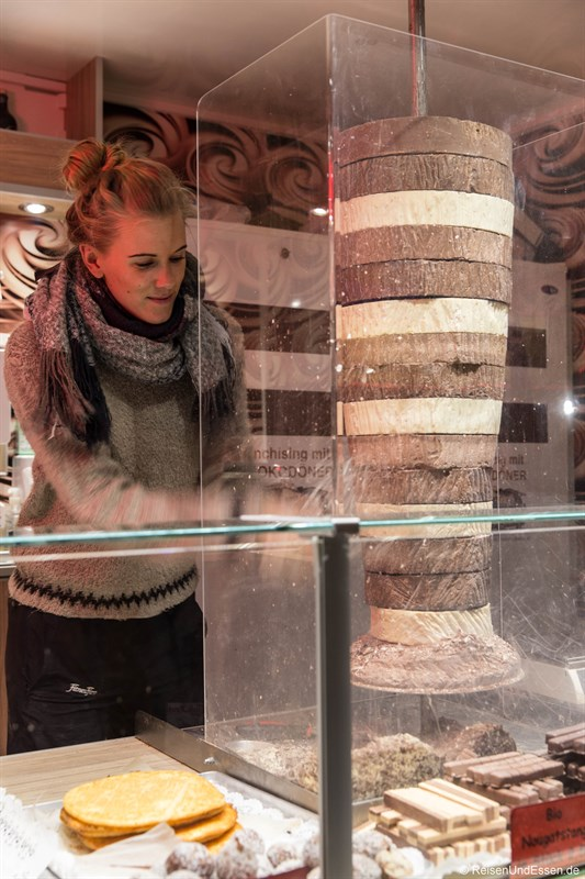 Schokoladen-Döner beim Tollwood Winterfestival