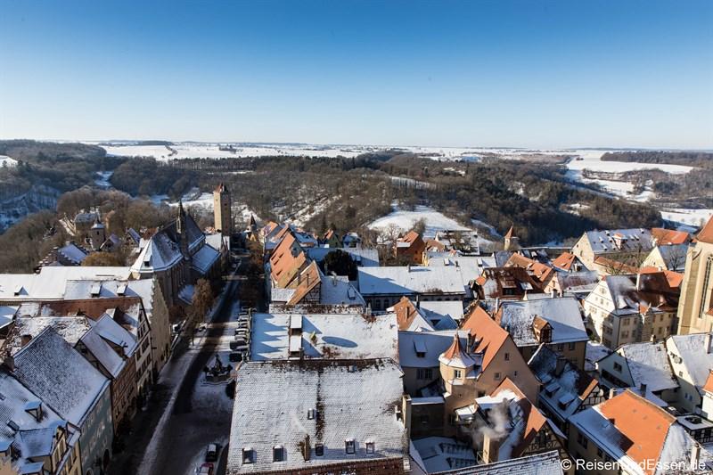 Blick vom Rathausturm Richtung Burgtor