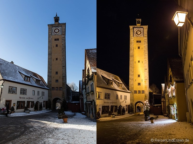 Rundgang entlang der Stadtmauer in Rothenburg