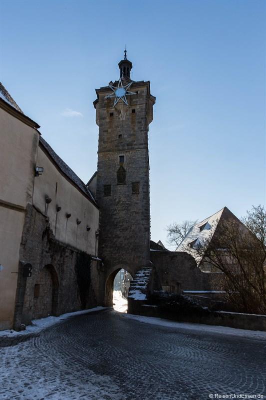 Klingentor beim Rundgang in Rothenburg ob der Tauber