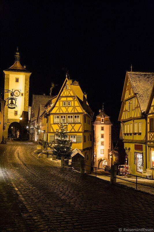 Plönlein in Rothenburg bei Nacht