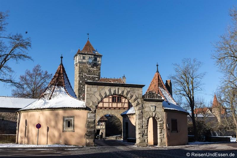 Zoll- und Wachhäuschen beim Rödertor in Rothenburg