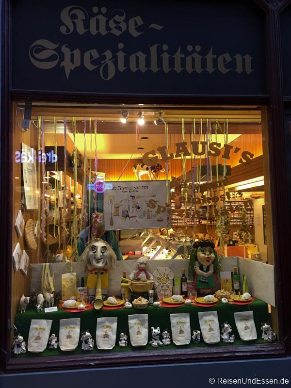 Laden mit Käsespezialitäten in Basel