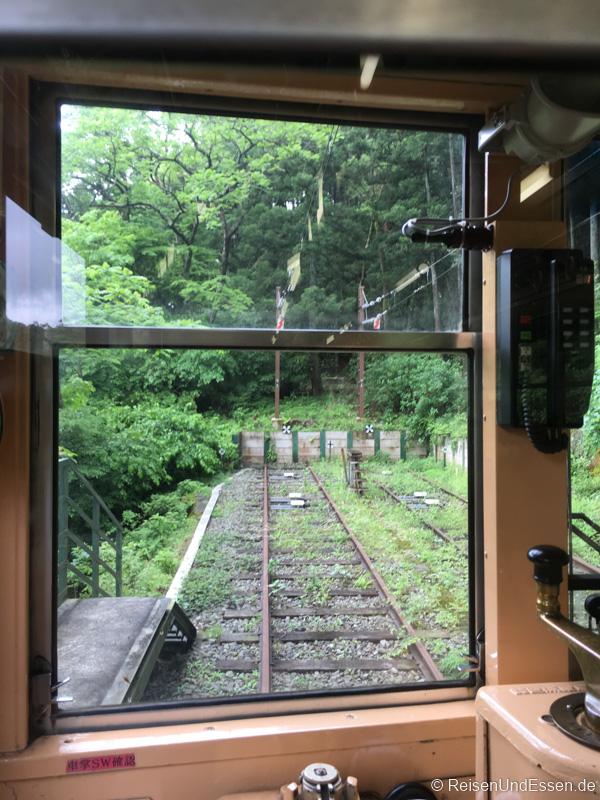Wendegleis auf der Strecke nach Hakone