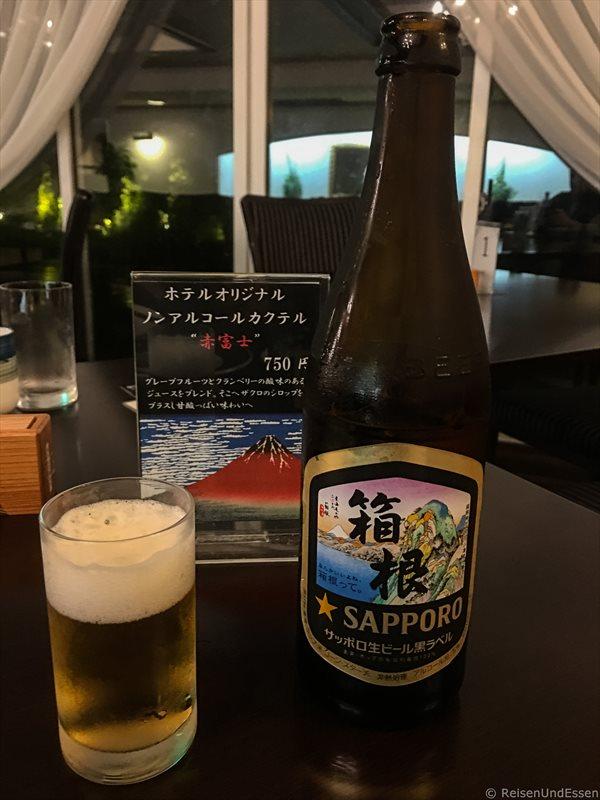Bier zum Abendessen im Hotel Green Plaza Hakone