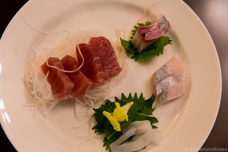 Sushi beim Abendessen im Hotel Green Plaza Hakone