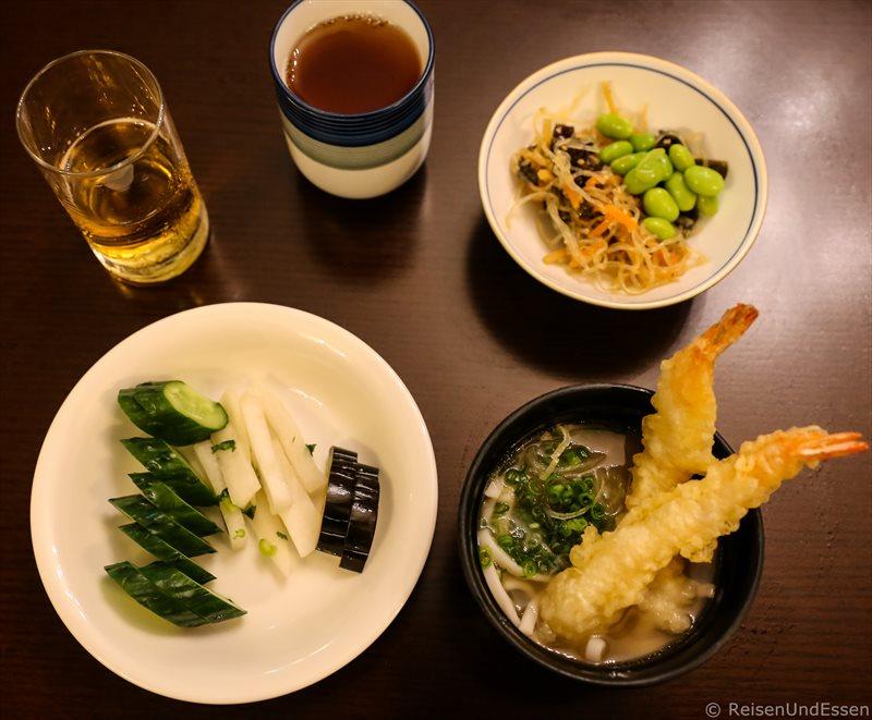 Tempura beim Abendessen im Hotel Green Plaza Hakone