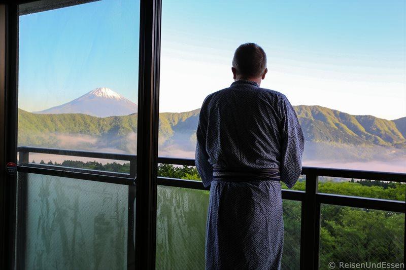 Zimmer mit Aussicht auf Fuji im Hotel Green Plaza Hakone