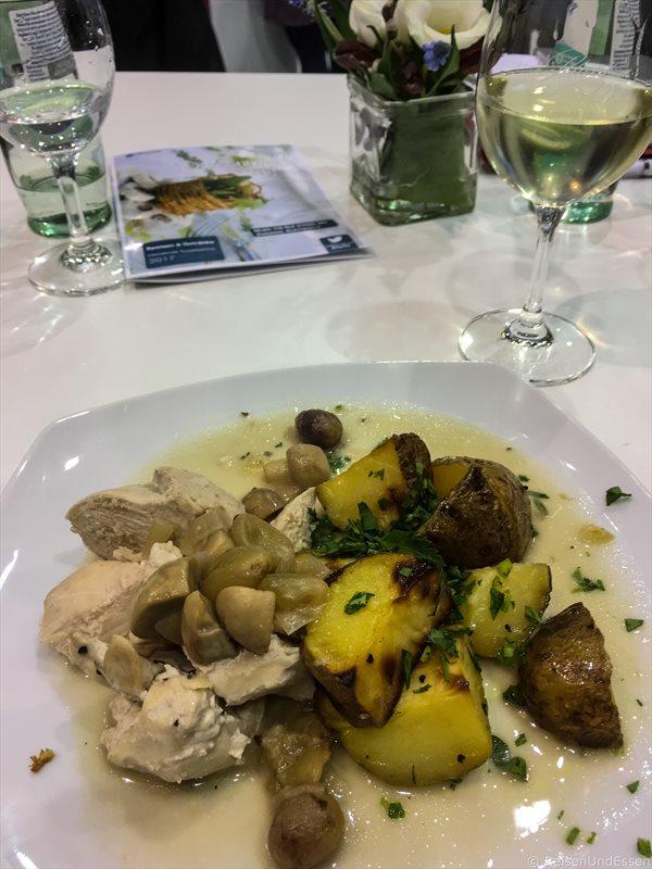 Leckeres Essen und Wein bei Rheinland-Pfalz