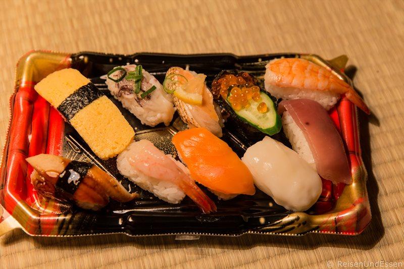 Sushi zum Abendessen in Kyoto