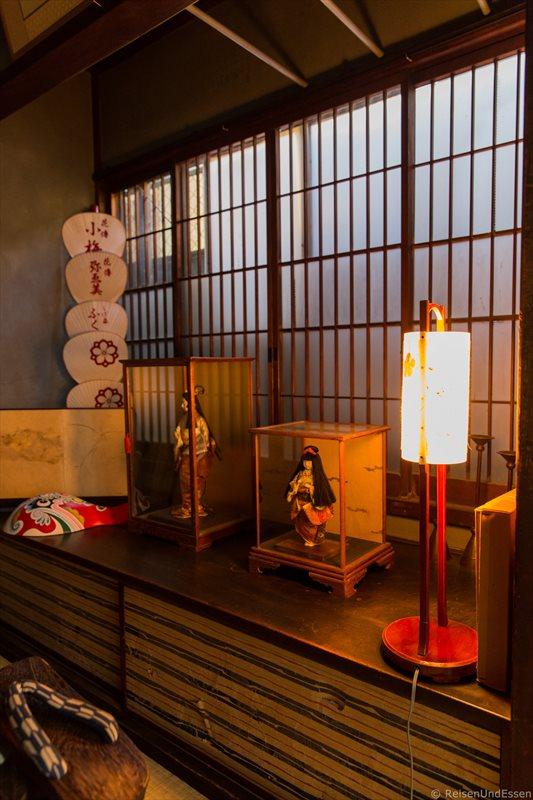 Eingangsbereich im traditionellen Stadthaus in Kyoto