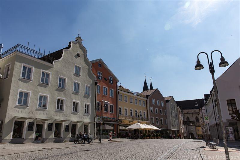 Blick vom Marktplatz in die Gabrielstrasse in Eichstätt