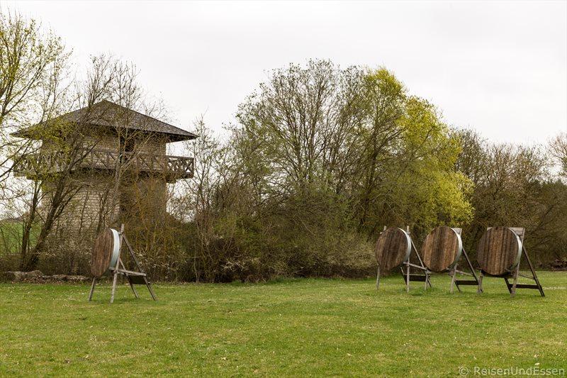 Platz zum Bogenschießen beim Limes in Erkertshofen