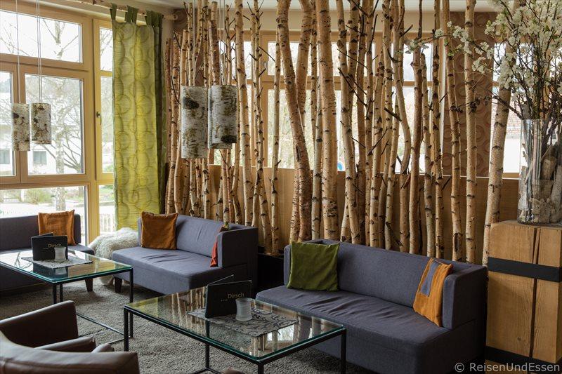 Sitzecke in der Bar im Hotel Dirsch in Emsing