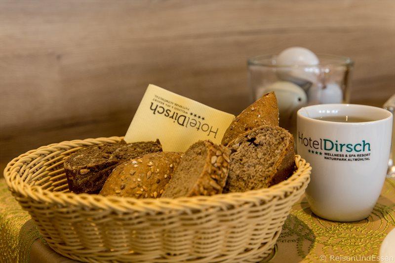Unser Frühstück im Hotel Dirsch in Emsing
