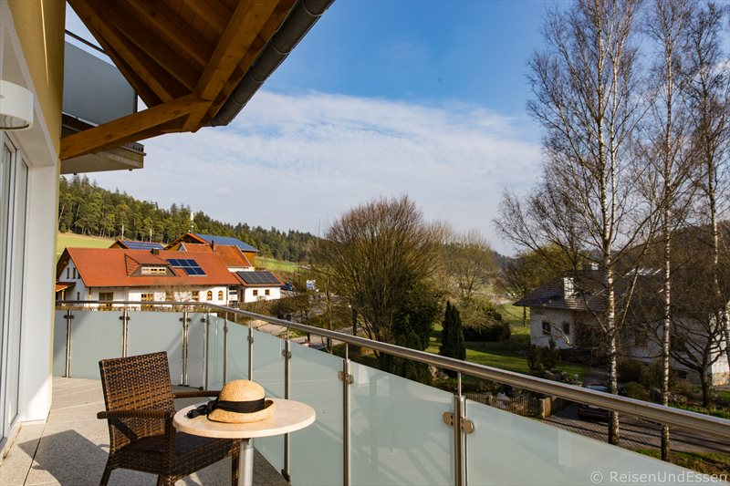 Balkon der Junior Suite im Hotel Dirsch in Emsing