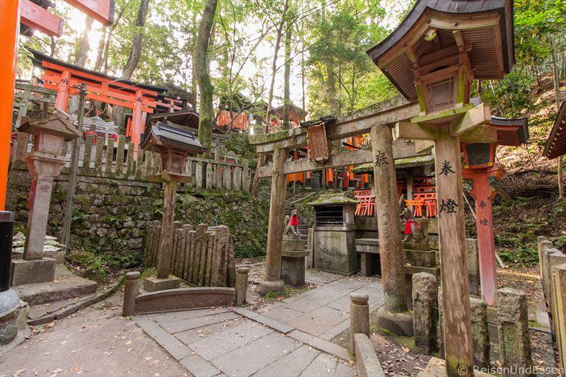 Altare bei menschenleeres Fushimi Inari
