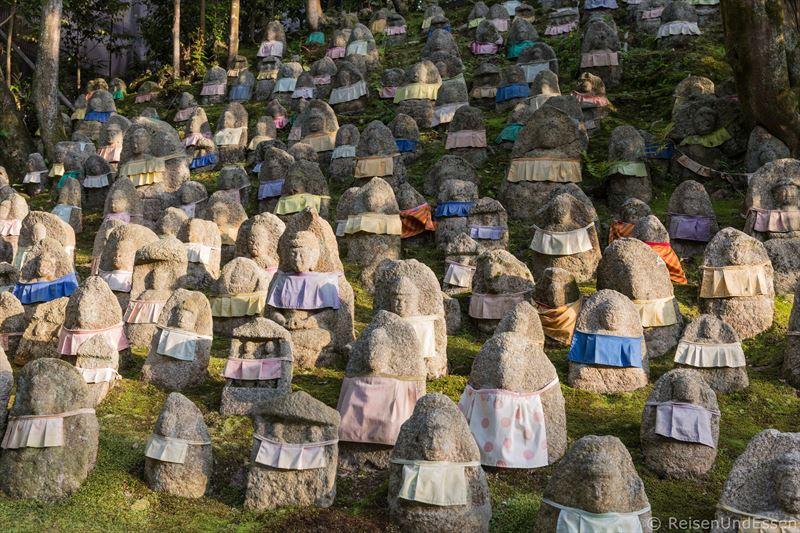 Buddhistische Jizo Figuren im Kiyomizu-dera