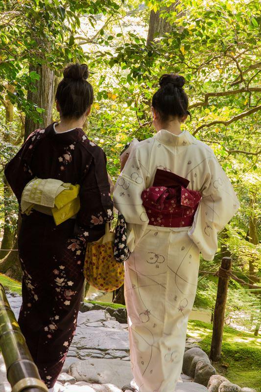 Japanische Frauen im Kimono