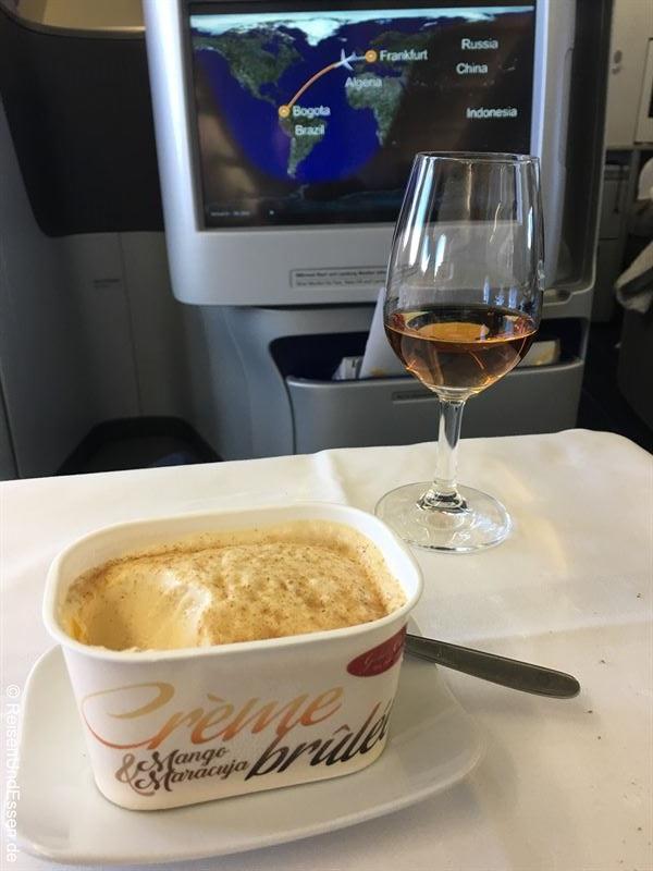 Nachspeise: Creme brule und einen Cognac