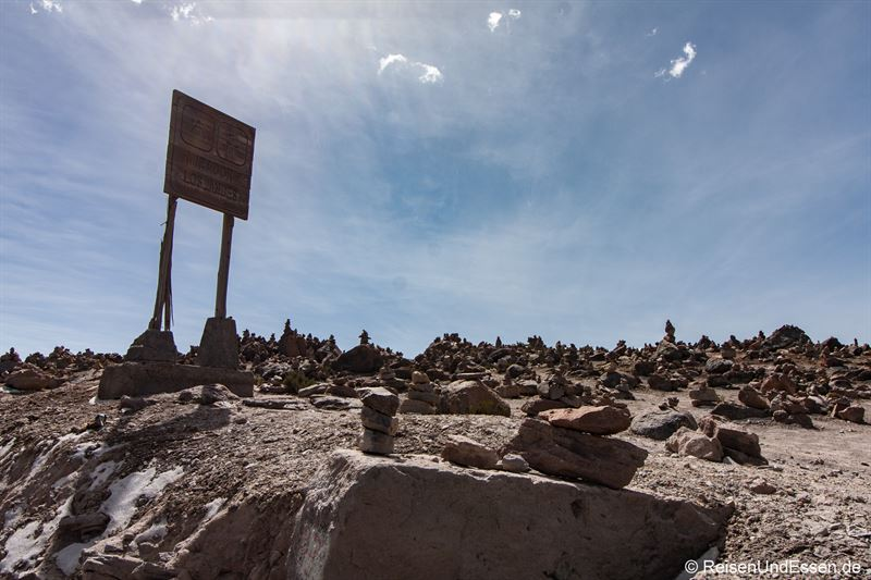 Steinmännchen beim Mirador de los Andes